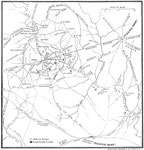 Bull Run Maps: Outline Map of the Battle of Bull Run Region
