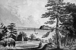 Burr Duel: View of the spot Where General Hamilton Fell at Weehawken