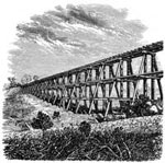 Central Pacific Railroad: Trestle Opposite Auburn