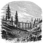 Central Pacific Railroad: Trestle and Truss Bridge, Clipper Ravine - 800 Feet Long