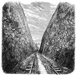 Central Pacific Railroad: Bloomer Cut - 63 Feet Deep and 800 Feet Long