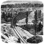 Central Pacific Railroad: Trestle at Secrettown - 1,000 Feet Long and 50 to 90 Feet high