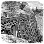 Central Pacific Railroad: First Trestle in Clipper Ravine