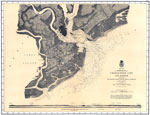 Charleston Harbor: Map of Charleston City and Harbor
