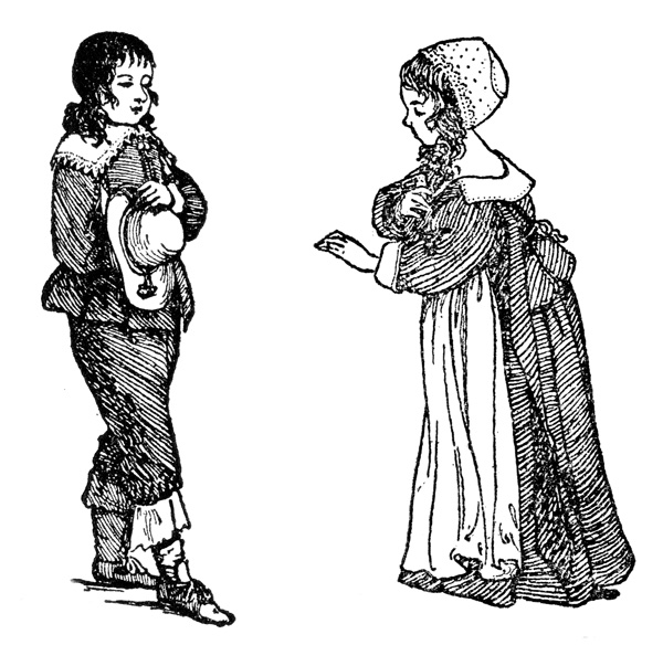 Colonial People: Ordinary Dress of a Boy and Girl