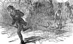 Daniel Boone Pictures: Boone Pursued by the Indians