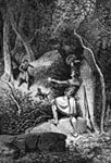 Daniel Boone Pictures: Meeting of Boone and his Brother