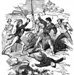 Davy Crockett Pictures: Heroic Death of Crockett