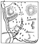 Edward Braddock: Map of Braddock's Field