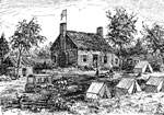 Fair Oaks Battle: Farm House Near Fair Oaks Used as a Union Hospital