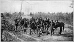 Fair Oaks VA: McClellan's Soldiers Preparing a Corduroy Road along the Chickahominy at Fair Oaks, VA