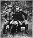 Fair Oaks VA: Lt. J. B. Washington and Lt. George A. Custer after the Battle at Fair Oaks, May 31, 1862