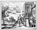 Ferdinand and Isabella: Columbus Departing for First Voyage Takes Leave of the King and Queen