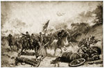First Battle of Bull Run: Panic of the Union Troops at Bull Run