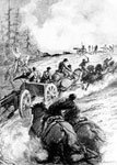 First Battle of Bull Run: Bringing Up the Guns