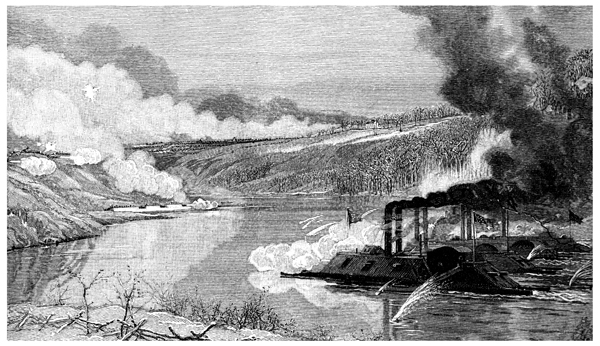 Fort Donelson Battlefield The Gun Boats At Fort Donelson With The Land Attack In The