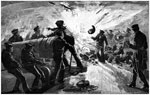 Fort Donelson Battlefield: Explosion of a Gun on Board the Carondelet during the Attack on Fort Donelson