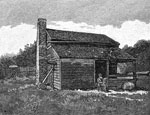 Fort Donelson Civil War: Front View of Mrs. Crisp's House