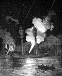 Fort Jackson: Mortar Schooners Engaged Against Fort Jackson