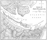 Fort Pulaski: Map of the Siege of Fort Pulaski