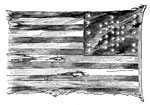 Fort Sumter Flag: The Flag of Fort Sumter brought to New York by Major Anderson and raised over the Equestrian Statue of Washington at the Great Uprising Meeting in Union Square, April 20, 1861
