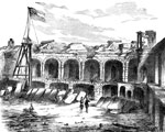 Fort Sumter Pictures: Interior view of Fort Sumter after bombardment