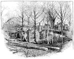 Gaines's Mill: Gaines's Mill Burned by Sheridan's Cavalry in May, 1864