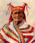 Geronimo: Portrait of Geronimo in Costume - 1898