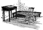 Henry David Thoreau: Furniture from Thoreau's Cabin on Walden Pond