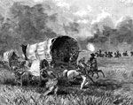 Horse Drawn Wagons: Perils by Indians