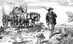 Horse Drawn Wagons: Flying from Persecution