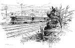 Invention of the Telegraph: Train Telegraph - The Message Transmitted by Induction from the Moving Train to the Single Wire
