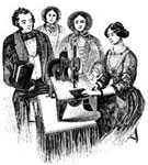 Invention of the Sewing Machine: Demonstration of a Sewing Machine, 1853
