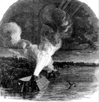Island No. 10: Siege of Island No. 10, Night Bombardment by the Federal Mortar Boats, March 18, 1862