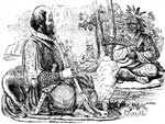 Jamestown Colony: Captain Smith Making a Treaty with the Indians
