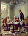 John Adams Pictures: Adams, Jefferson & Franklin Drafting the Declaration of Independence