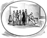 John Brown Pictures: John Brown receiving his last visitors just before his execution