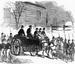 John Brown Pictures: John Brown sitting on his coffin to the place of his execution