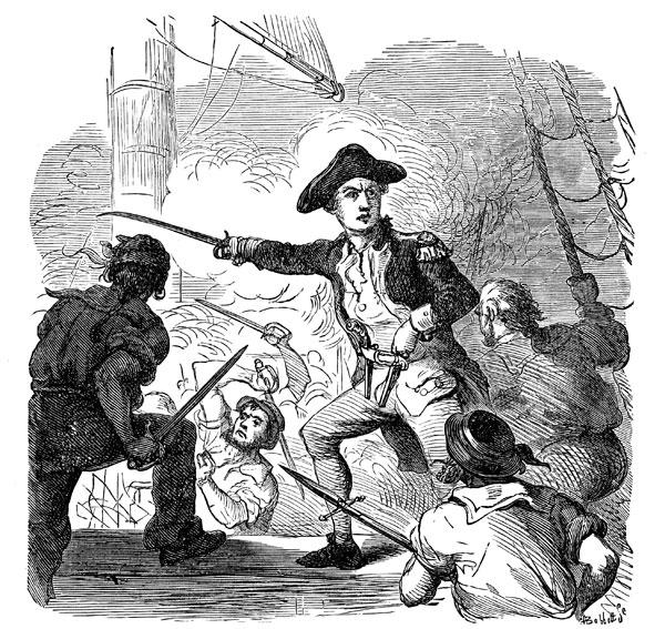 John Paul Jones in battle