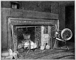 John Whittier: Kitchen fireplace in Whittier's home - East Haverhill, Massachussetts