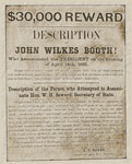 John Wilkes Booth: Reward Poster