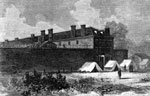 Lincoln Conspiracy: Penitentiary building at Washington in which the conspirators are confined and undergoing trial