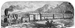 Locomotive Pictures: Modern (1871) Train from New York to Sacramento, California with Pullman Palace Cars
