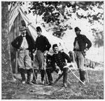 Malvern Hill Battlefield: Colonel W. W. Averell and Staff at Malvern Hill