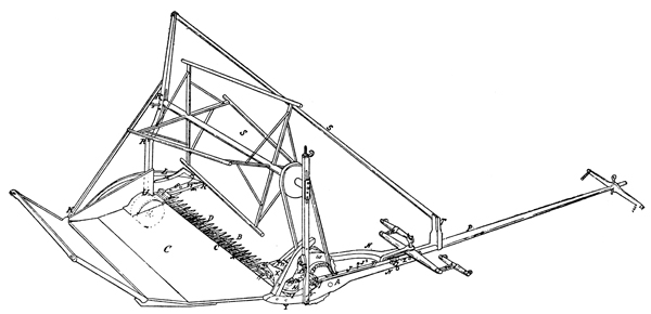 Mechanical Reaper: McCormick Reaper - Patented January 31, 1845