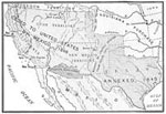 Mexican War Maps: Territory Gained by the Treaty of Peace, 1848