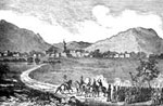 Mexican War: American Army Entering Puebla