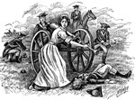 Molly Pitcher: Molly Pitcher at the Gun