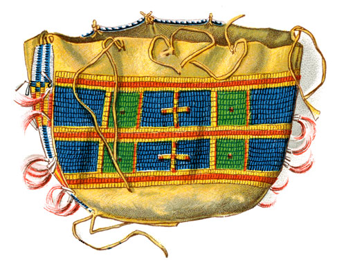 Native American Clothes: Beaded Buckskin Clothes Bag