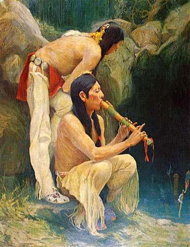 Indijanci na fotografiji i slici Native-american-flutes-4